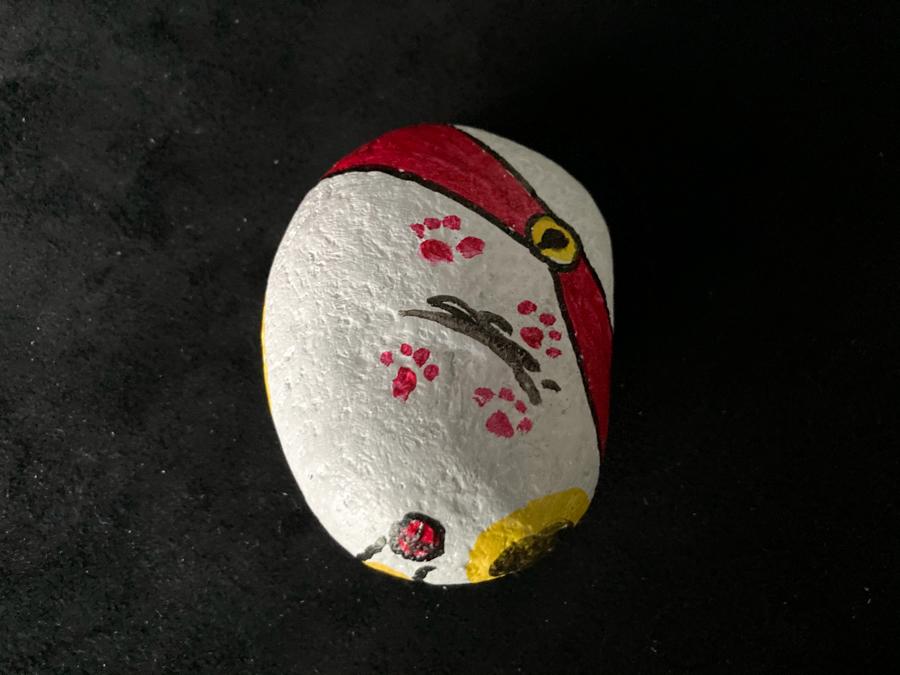 震災の復興を願って…福石猫