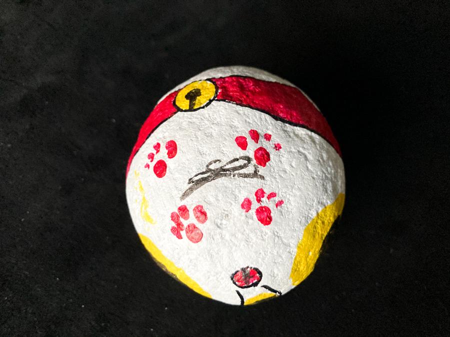 赤い帯の福石猫(ゴロゴロ)