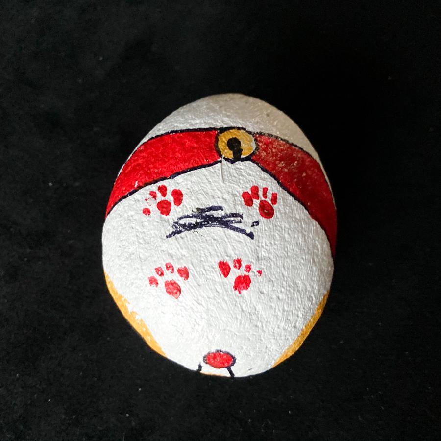赤い帯の福石猫(コロリン)